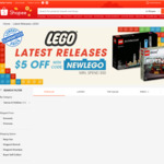 $5 off Latest LEGO Releases via Shopee ($50 Minimum Spend)