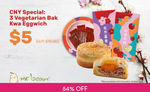 3x Vegetarian Bak Kwa Eggwich for $5 (U.P. $10.80) at Mr Bean via Fave