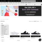 35% off Selected Products + Extra 20% Cashback/Store Credit ($49 Min Spend) at Zalora