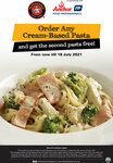 Buy a Cream-Based Pasta, Get Another Free at Pastamania