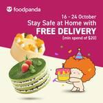 Free Delivery ($20 Min Spend) at BreadTalk via foodpanda