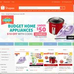 $10 off Budget Home Appliances at Shopee ($50 Minimum Spend)