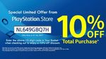 10% off Total Purchase at the PlayStation Store