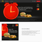 $3 off McDonald's Delivery ($15 Minimum Spend) with MasterCard