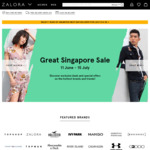 18% off Sitewide at Zalora ($110 Minimum Spend)
