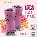 1 for 1 Pearly Bandung Soya Milk ($2.40) at Mr Bean via Qoo10