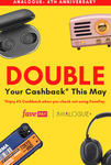 6% Cashback (Was 3%) with FavePay Payments at Analogue+