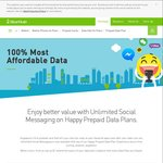 Unlimited Social Messaging (WhatsApp/Viber/WeChat/LINE) on StarHub Happy Prepaid Data Plans