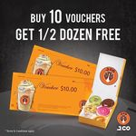 Buy 10 $10 Vouchers and Get Half a Dozen Donuts Free from J.CO Donuts & Coffee