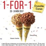 Swensens 1 for 1 Crunchie Cones Promotion from 20-24 Nov 2017