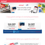 $20 off $100 Min Spend (New Customers) and $8 off $100 Min Spend at Redmart (Existing Customers) [Citibank Cards]