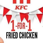 1 for 1 Fried Chicken at KFC