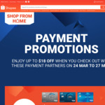 $5 off ($50 Min, Singtel Dash), $8 off ($60 Min, UOB/Citi Cards) or $18 off ($90 Min, SC Cards) Sitewide at Shopee