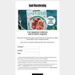Free Vegetarian Collection Special Edition Magazine@Good Housekeeping