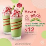 2x Matcha Sakura Ice Blended Drinks for $12 (U.P. $17) at The Coffee Bean & Tea Leaf