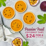 Passion Fruit Coconut Tart Box of 4 at $24 from Coffee Bean
