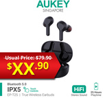 AUKEY EP-T25 True Wireless Earbuds $17.90 + $1.99 Delivery @ Aukey via Qoo10