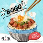 1 for 1 Donburi with Miso Soup (from $28++) at Douraku Sushi