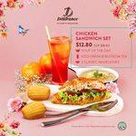 Chicken Sandwich Set for $12.80 (U.P. $18.10) at Delifrance