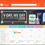 "$5 Off $15 Minimum Spend in ""V-Day, Me-Day"" Category at Shopee"
