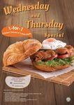1 for 1 Chicken Teriyaki or Turkey Meltz (Wednesdays and Thursdays) at Delifrance