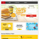 McDonald's McDelivery Free with Purchase: McSpicy, Filet-O-Fish, Hash Brown or 2pcs McWings