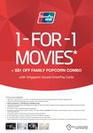 1 for 1 Movie Tickets + $1 off Family Popcorn Combo at Shaw Theatres (UnionPay)