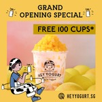 Free Drink from Hey Yogurt (Jurong Point, Facebook Required)