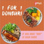 Niigata @ Tampines Hub Is Having 1-for-1 Donburi from 19 April to 23 April 2021 if Your Name Has DON in It