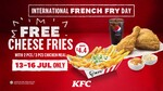 Free Cheese Fries (U.P. $4.40) with Every 2pc or 3pc Meal at KFC