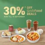 30% off ($20 Min Spend) at Toast Box via GrabFood