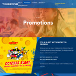 Timezone: $100 Game Credits for $50 or $200 Game Credits + 500 E-Tickets for $100