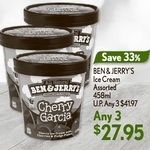 3x Ben & Jerry's Assorted 458ml Ice Cream Tubs for $27.95 (U.P. $41.97) at Cold Storage