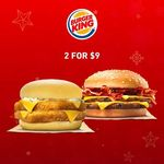 Burger King - 2 for $9: Double Fish'N Crisp™ and Double BBQ Turkey Bacon Burgers