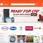 $3 off Home & Living Category at Shopee ($8 Minimum Spend)
