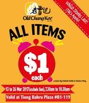All Items $1 (Excluding Big Fishball OnStik & Chicken Wing) at Old Chang Kee [Tiong Bahru Plaza, 7.30am to 10.30am]
