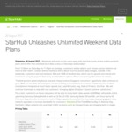 New Starhub Postpaid from $48 & Sim Only Plans from $24 Now Including Unlimited Data on Weekends