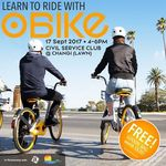 Free Goodie Bag Worth Up To $30 at oBike Bike Learning Day 17 Sep at Civil Service Changi (Registration Req'd)