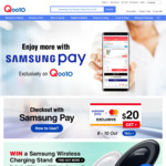 Qoo10 Coupon - $20 off When You Spend $50 with Mastercard and Samsung Pay