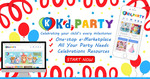 $5 off Party Supplies/Magician/Bouncy Castle/ Dessert Table ($15 Minimum Spend) from Kidi Party