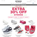 30% off Sitewide Plus Free Shipping (No Minimum Spend) at Crocs
