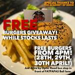 Free Burgers from Fat Papas Burgers and Shakes/The Academy of Rock