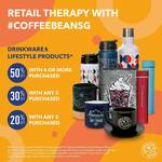 Up to 50% off Drinkware and Lifestyle Products at Coffee Bean