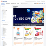 $10 off ($80 Min Spend) or $30 off ($150 Min Spend) on Participating P&G Products at FairPrice On