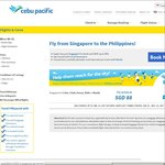 Singapore to Philippines from $88 via Cebu Pacific