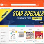 "$5 Off Min Spend $15 at Shopee (""Star Specials"")"