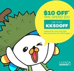 Win 1 of 5 $20 Lazada Vouchers from KKday