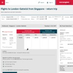 Singapore to London Return $430 (or $149 One Way to London) Via Norwegian Shuttle (Oct 17 - Jan 18)