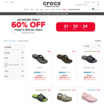60% off Selected Styles at Crocs