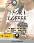 1 for 1 Coffee at Boufe Boutique Cafe (3pm to 6pm, Income at Raffles)